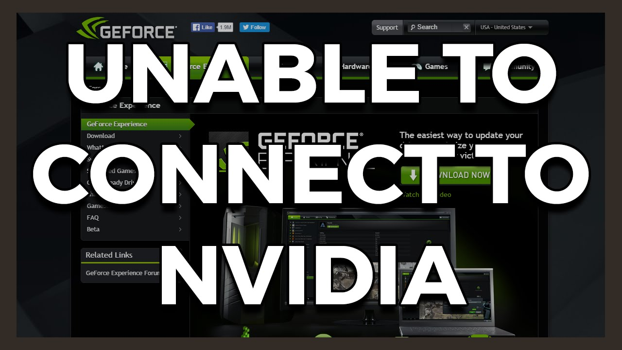 Unable To Connect To The Nvidia Geforce Experience Website
