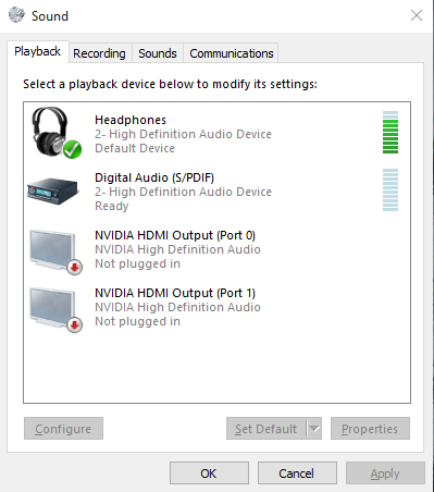 Audio service is not running