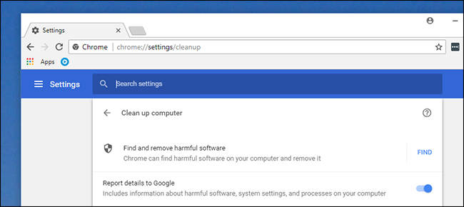 Malware checking with chrome