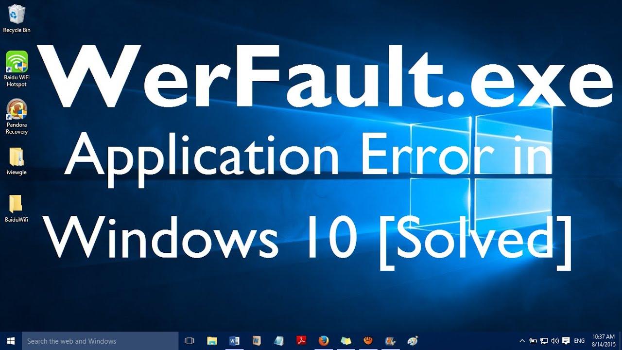 werfault.exe windows 10