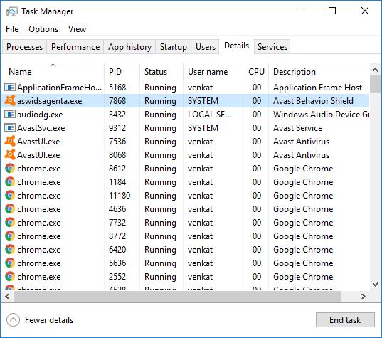 Aswidsagent.exe deleting method