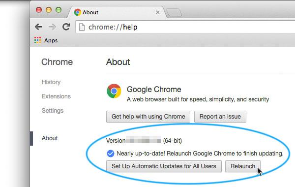 chrome update process