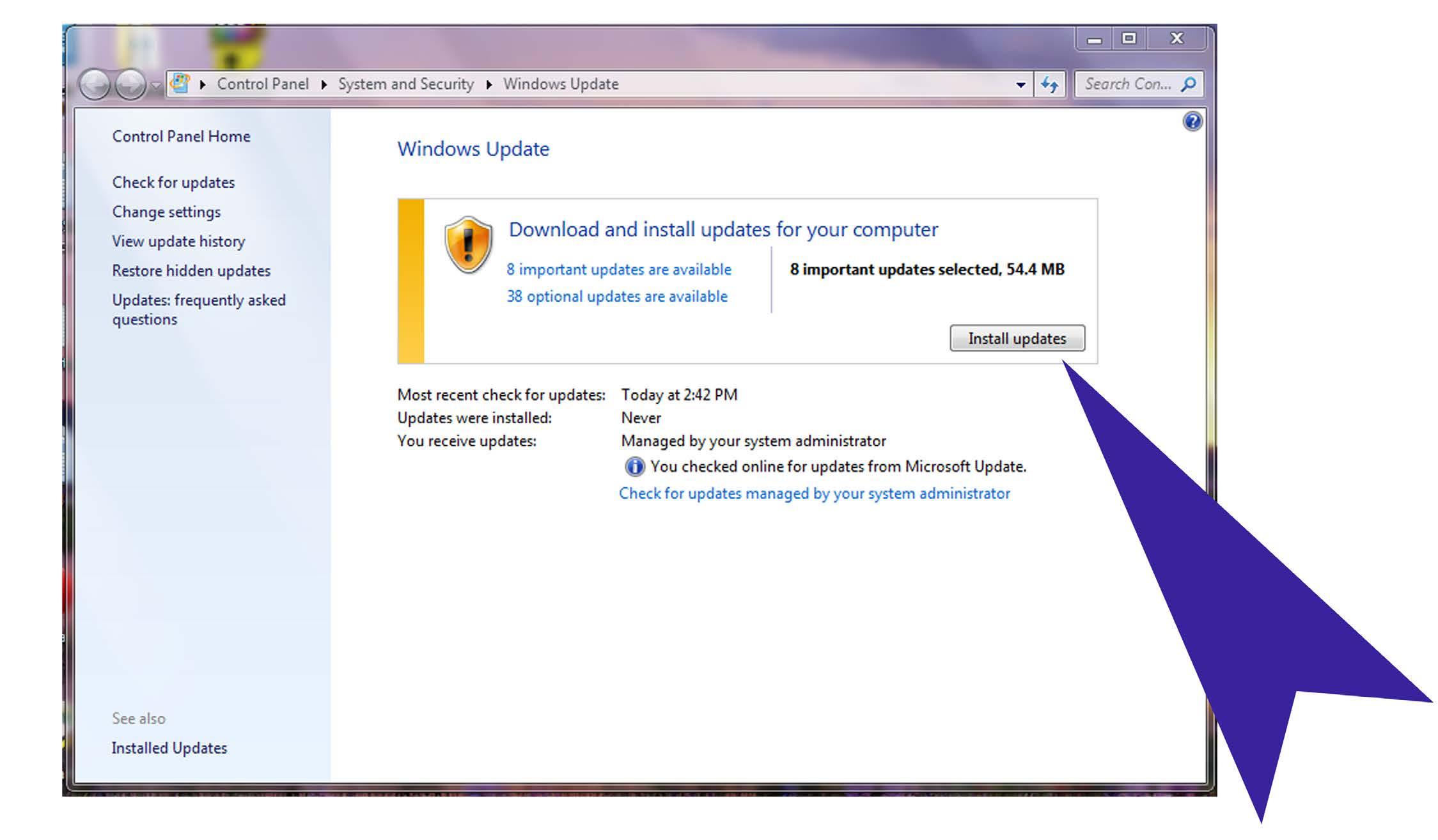install updates process