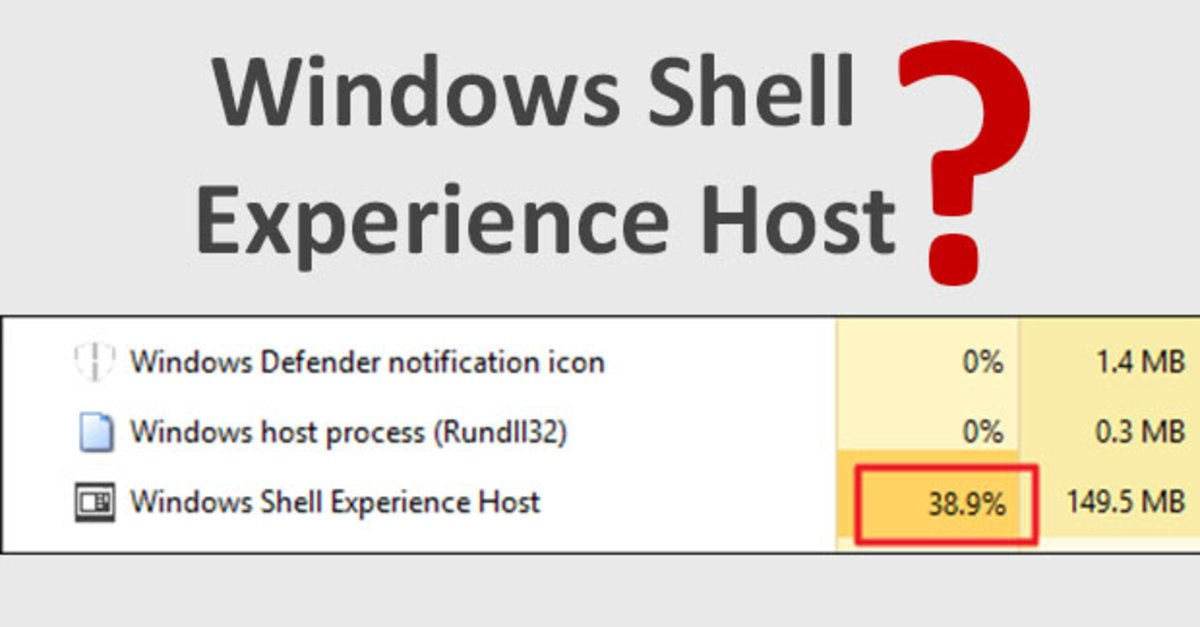 Windows shell experience host: How to fix the problem ?