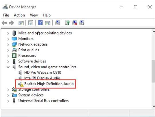 Sound in Windows 10 is missing after updating the system
