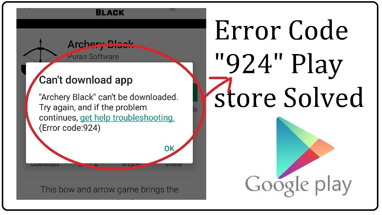 error code 924 google play