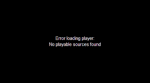 Error Loading Player
