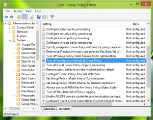disable group policy