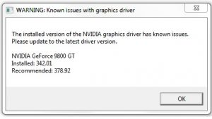application blocked access to graphics hardware