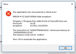 Wow Error 132 –What Is It,The Reasons Behind The Error And