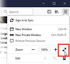 Activate & Deactivate Full-Screen